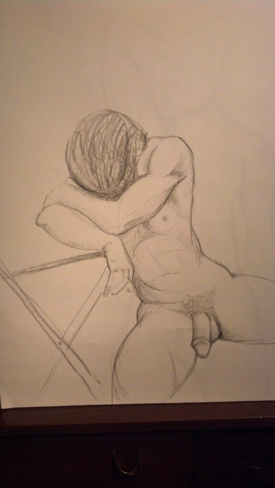 Art. Sex. Drawing while naked. (3/3)