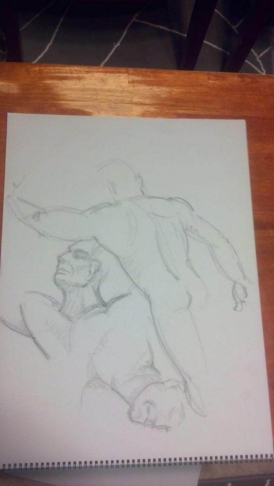 Art. Sex. Vitruvian. Naked Drawing Group. 7-9-13 (1/6)