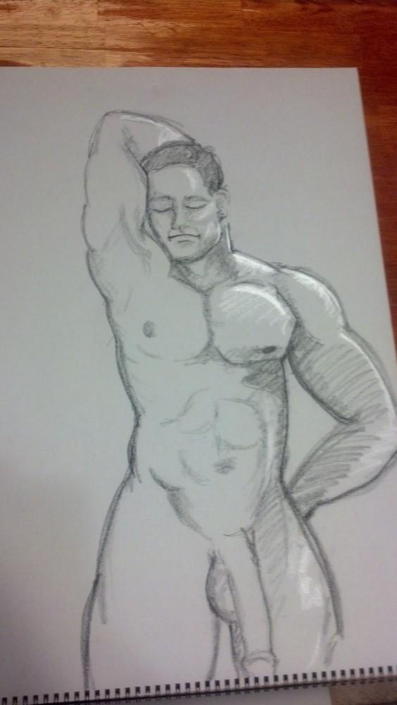 Art. Sex. Vitruvian. Naked Drawing Group. 7-9-13 (6/6)