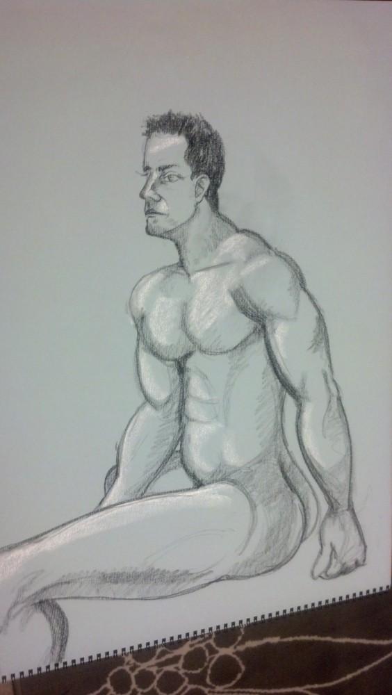 Art. Sex. Vitruvian. Naked Drawing Group. 7-9-13 (5/6)