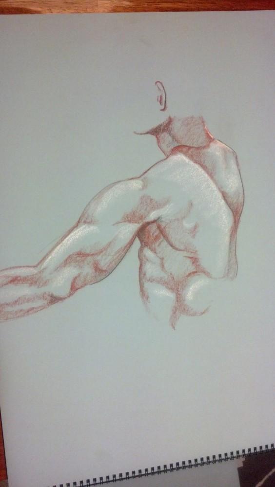 Art. Sex. Vitruvian. Naked Drawing Group. 7-9-13 (4/6)