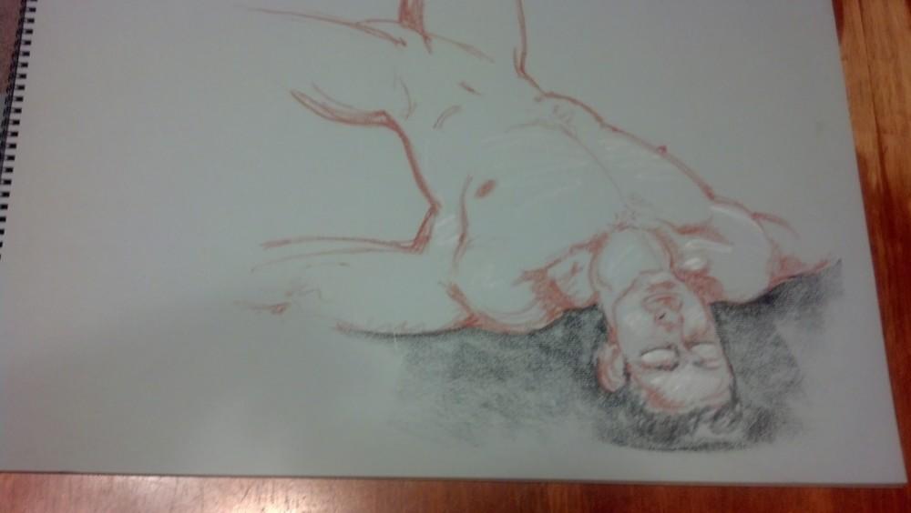 Art. Sex. Vitruvian. Naked Drawing Group. 7-9-13 (3/6)