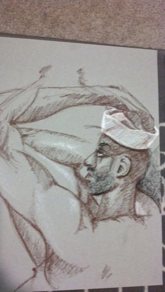 Art. Sex. Vitruvian Drawing Group. 12.13.13. A-Rod (3/4)