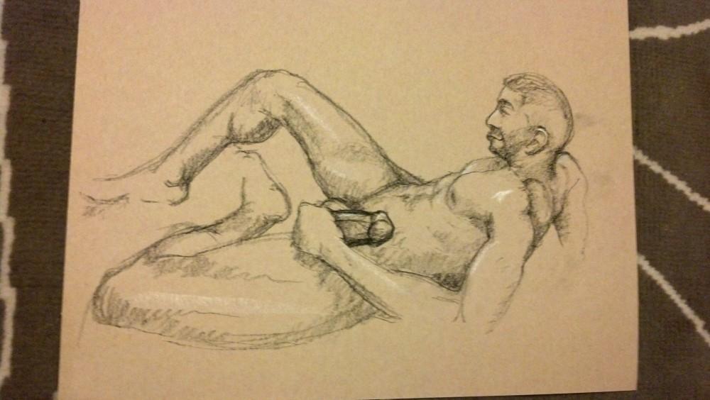 Art. Sex. Vitruvian Drawing Group. 12.13.13. A-Rod (2/4)