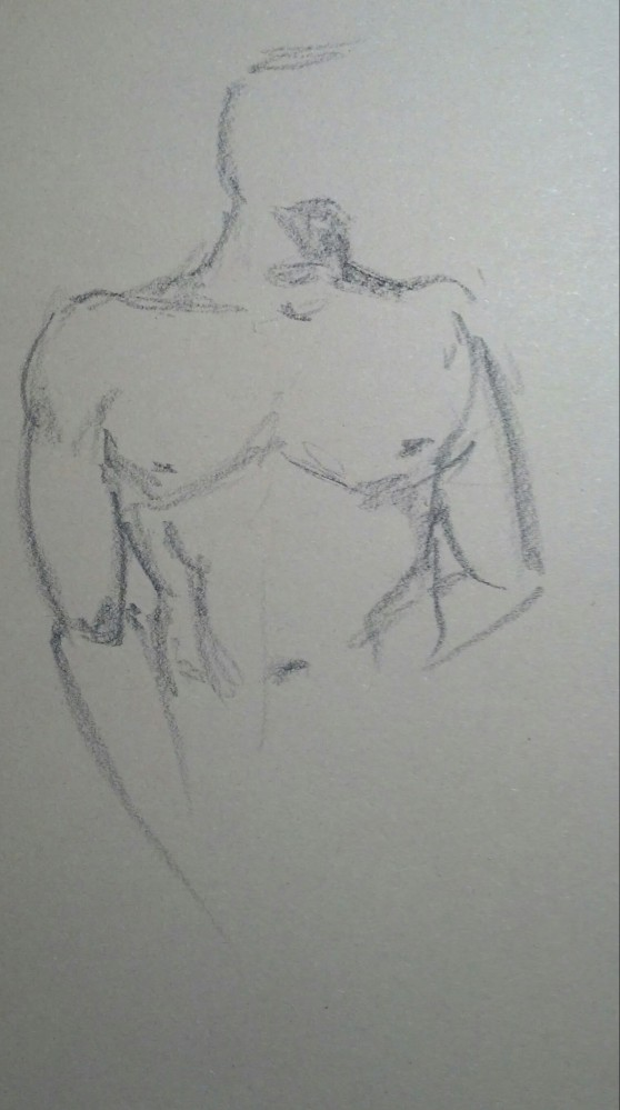 Art. Sex. Vitruvian Drawing Group. 02-27-14. Two Models and some news. (6/6)