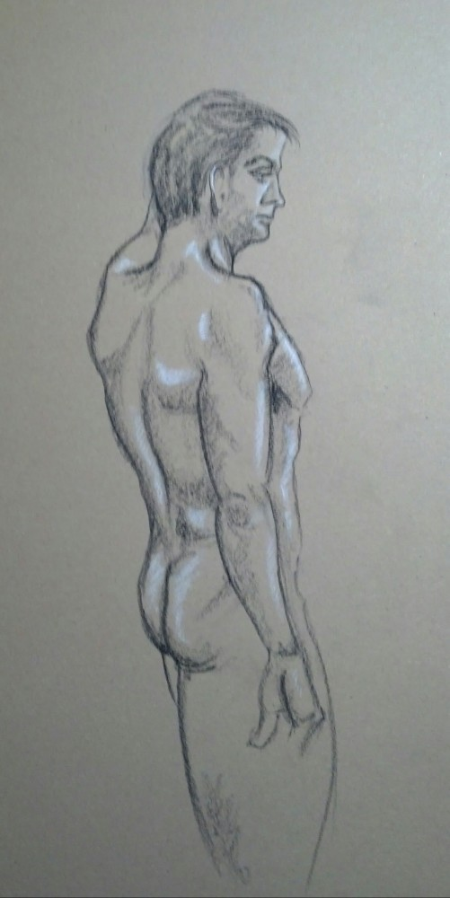 Art. Sex. Vitruvian Drawing Group. 02-27-14. Two Models and some news. (4/6)
