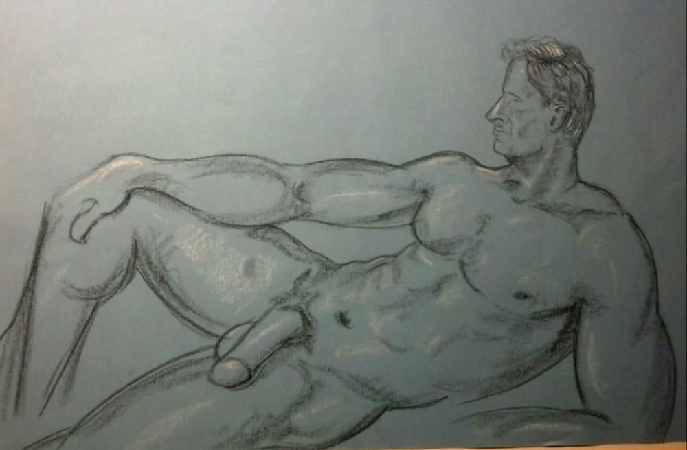 Art. Sex. Vitruvian Drawing Sessions. Bryan. 05-29-14  (2/3)