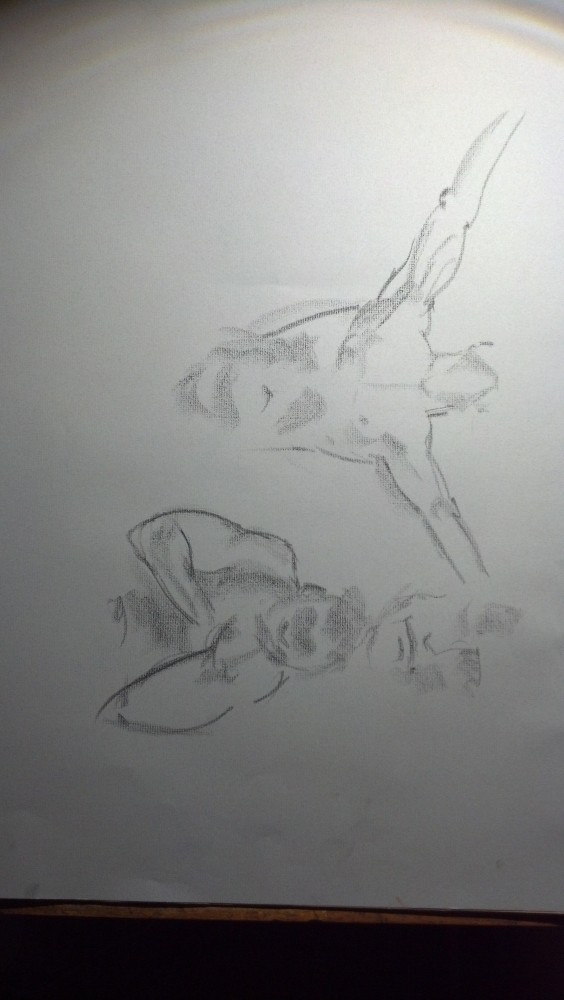 Art. Naked Drawing Group. August 12 Session. Aurelio (4/5)