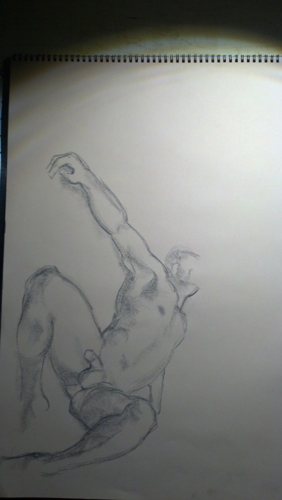 Art. Naked Drawing Group. August 12 Session. Aurelio (1/5)