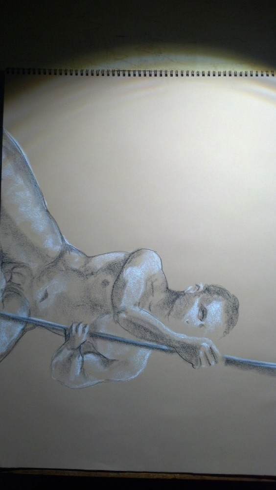 Art. Naked Drawing Group. August 12 Session. Aurelio (3/5)