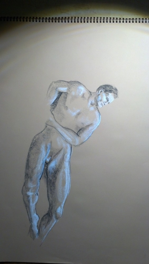 Art. Naked Drawing Group. August 12 Session. Aurelio (2/5)