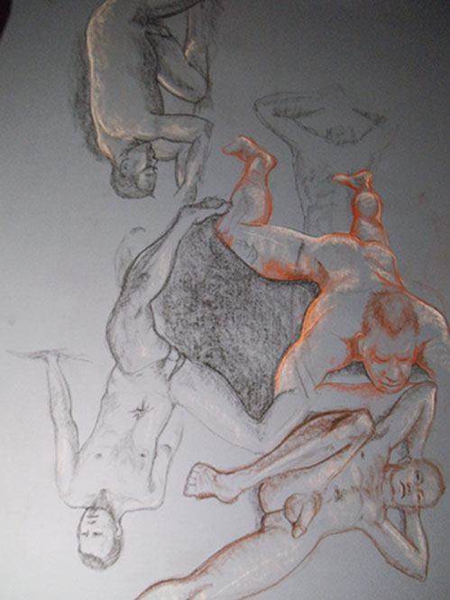 Art. Sex. Naked Drawing Group. Model: Chris. September 9th Session.