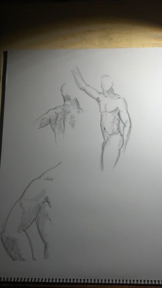 Sex. Art. Vitruvian Thursday Night Drawing Group. Model: Brian. September 18, 2014 (2/6)