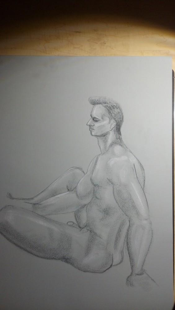 Sex. Art. Vitruvian Thursday Night Drawing Group. Model: Brian. September 18, 2014 (1/6)