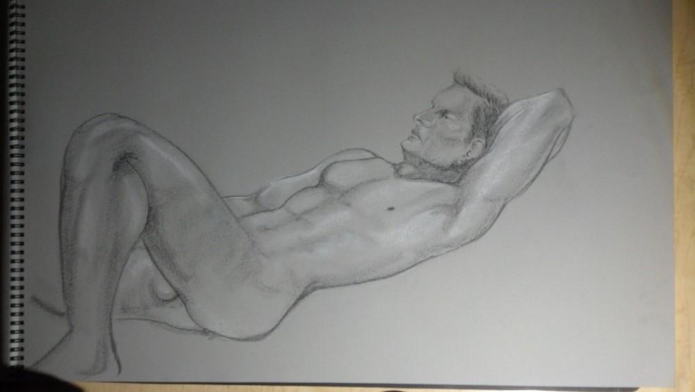 Sex. Art. Vitruvian Thursday Night Drawing Group. Model: Brian. September 18, 2014 (6/6)