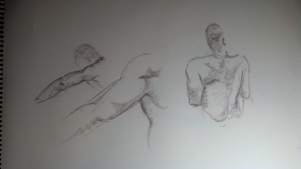 Art. Sex. Vitruvian Thursday Night Drawing Group. 10.3.14. Model: Justin (2/6)