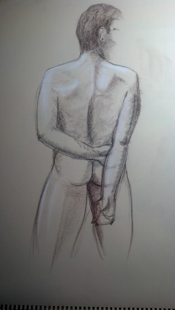 Art. Sex. Vitruvian Thursday Night Drawing Group. 10.3.14. Model: Justin (3/6)