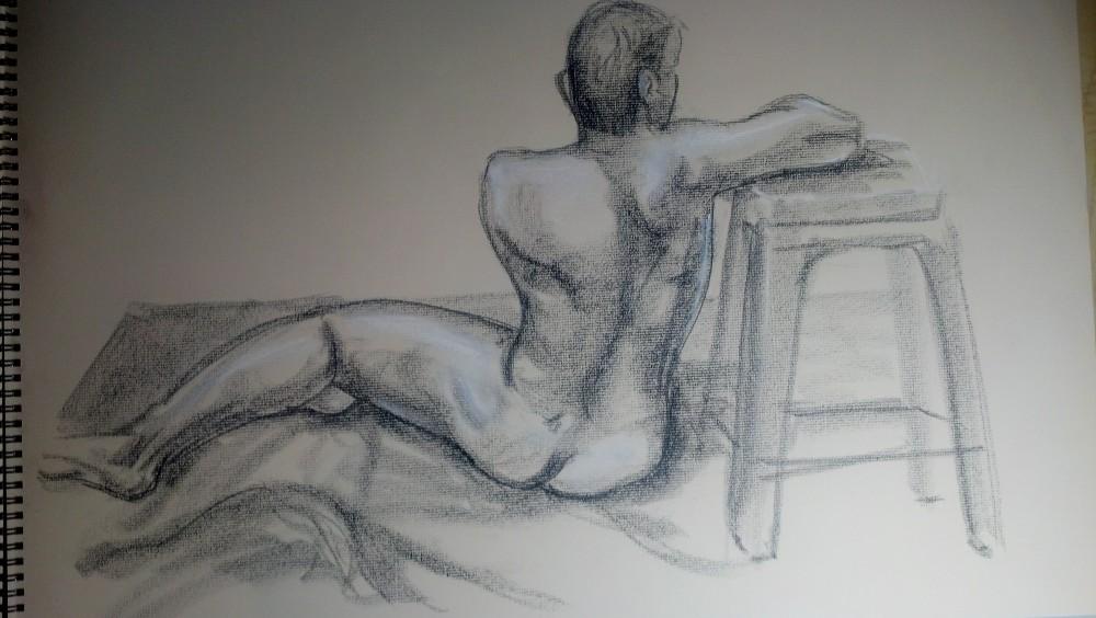 Art. Sex. Vitruvian Thursday Night Drawing Group. 10.3.14. Model: Justin (1/6)