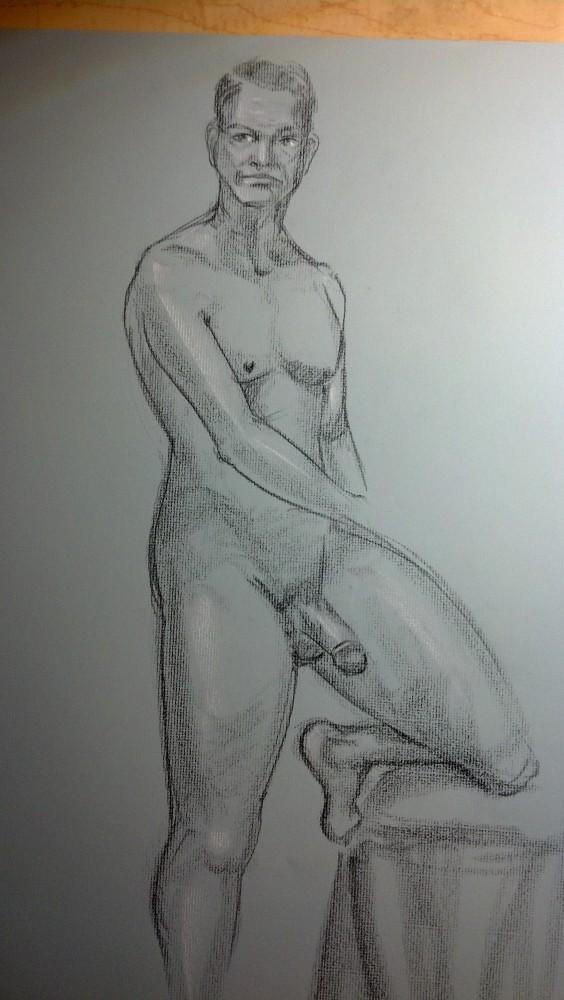 Art. Sex. Vitruvian Thursday Night Drawing Group. 10.3.14. Model: Justin (5/6)