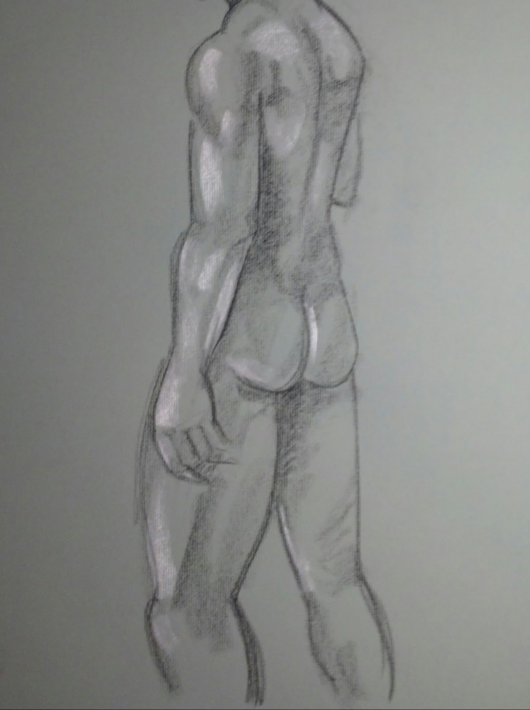 Art. Sex. Vitruvian Drawing Group. Model: James. 10-09-14 (4/4)
