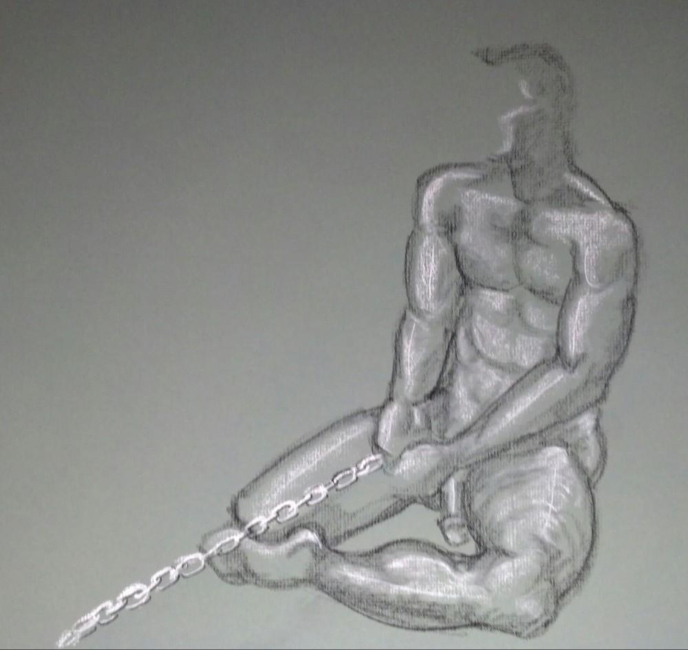 Art. Sex. Vitruvian Drawing Group. Model: James. 10-09-14 (3/4)