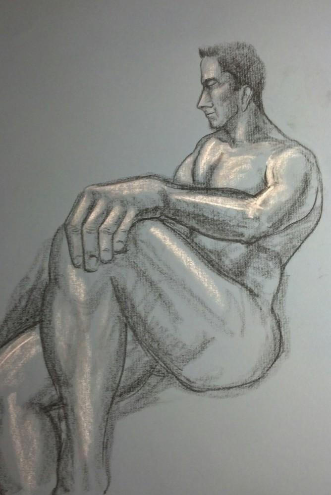 Art. Sex. Vitruvian Drawing Group. Model: James. 10-09-14 (2/4)