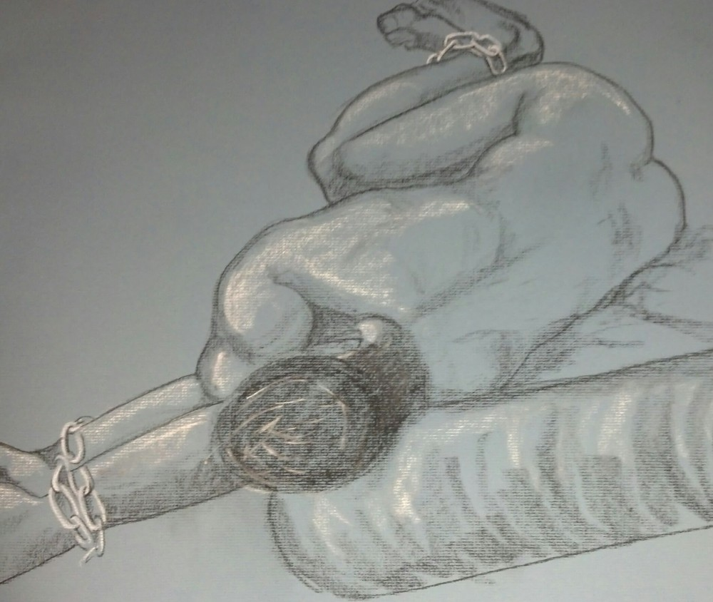 Art. Sex. Vitruvian Drawing Group. Model: James. 10-09-14 (1/4)