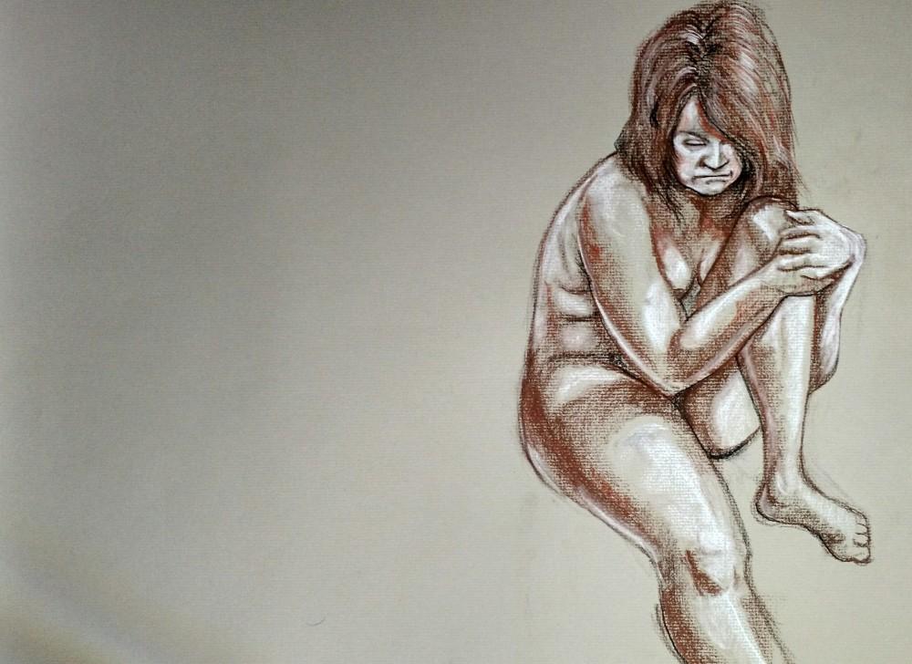 Art. Washington Drawing Club. 12-10-14. Model: Mary